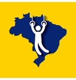 Brazil and the Olympic sports isolated icon design vector image vector image