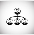 business hierarchy on white background vector image vector image