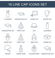 cap icons vector image vector image