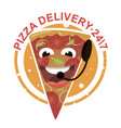 cartoon pizza vector image