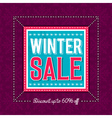 Christmas banner with snowflakes and sale offer vector image