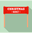 christmas market banner icon flat style vector image vector image