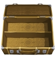 classic brown empty suitcase for travel vector image