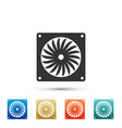 computer cooler icon isolated pc hardware fan vector image