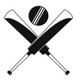 cricket bats logo simple style vector image