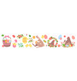 cute easter set funny spring collection vector image
