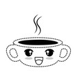 delicious coffee cup kawaii character vector image vector image