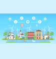 eco-friendly lifestyle - modern flat design style vector image vector image