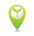 eco GREEN map pointer vector image vector image