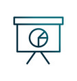 economy business presentation board statistics vector image vector image