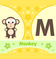 english alphabet with monkey vector image