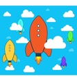 Flat rocket icon Startup Project development vector image