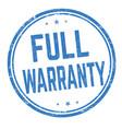 full warranty sign or stamp vector image