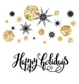 gold holiday design vector image vector image