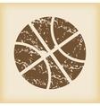 Grungy basketball icon vector image