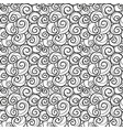 hand drawn swirls seamless background pattern vector image