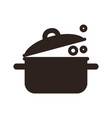 kitchen pot icon vector image vector image