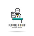 linear icon - personal assistant vector image vector image