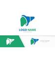 liver logo combination healthcare medical vector image