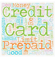 Loaded And Ready To Buy What Prepaid Credit Cards vector image vector image