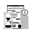 loan application finance vector image vector image