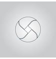 Loop icon vector image vector image
