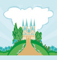 magic fairytale princess castle vector image vector image
