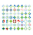 mega collection set medical cross graphic vector image