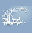 natural winter design vector image vector image