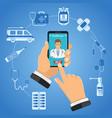 online doctor infographics vector image vector image