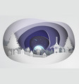 paper art of christmas background vector image vector image