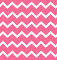 pink zig zag seamless pattern vector image