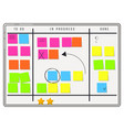 planning whiteboard organizer with sticker notes vector image