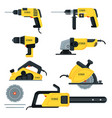 power tools set vector image vector image