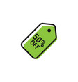 price tag graphic icon design template vector image vector image