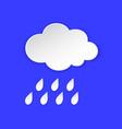 rain cloud weather forecast info icon rainy vector image