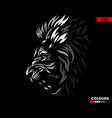 red eye lion vector image vector image
