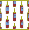 red wine bottles seamless pattern vector image vector image
