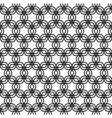Repeating black and white grid pattern vector image vector image