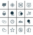 set of 16 eco-friendly icons includes clear vector image vector image