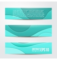 set of abstract blue banners three background vector image vector image