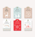 set of assorted christmas tags vector image
