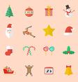 Set of Christmas Flat Icon vector image vector image