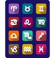 Set of icons of the signs of the zodiac vector image