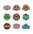 set of vintage steak house logos vector image vector image