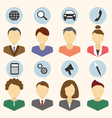 set portraits companys employees isolated on vector image vector image