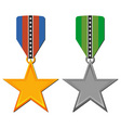 star medals vector image vector image