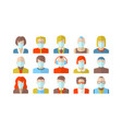 stylized character people wearing face mask vector image