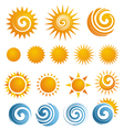 Sun icons collection vector | Price: 1 Credit (USD $1)