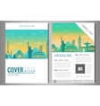 Travel brochure design with famous landmarks and